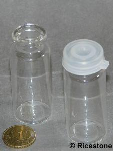 bouteille de 17 cc en verre avec bouchon plastique pour sable orpaillage btha13. Black Bedroom Furniture Sets. Home Design Ideas