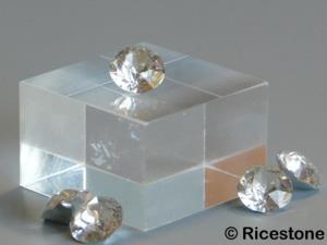 plaque verre acrylique 2 5x2 5x1 5 cm socle plexiglas de min ralogie cu2515. Black Bedroom Furniture Sets. Home Design Ideas