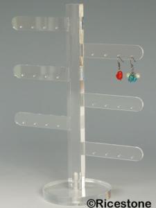 presentoir boucle d'oreille transparent