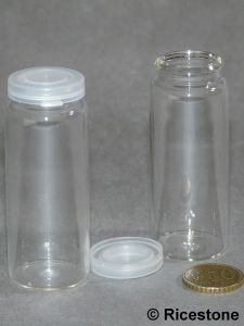 bouteille de contenance 24cc en verre avec bouchon plastique pour sable orpaillage b2. Black Bedroom Furniture Sets. Home Design Ideas