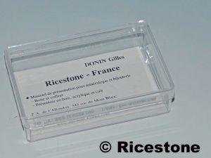 9a 12x Boites Plastique Transparente 95x64mm Carte De Visite
