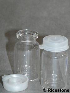 bouteille de contenance 12 cc en verre avec bouchon plastique pour sable orpaillage btha10. Black Bedroom Furniture Sets. Home Design Ideas