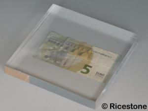 support acrylique transparent volume pour magasin 15x15x2 cm cu152. Black Bedroom Furniture Sets. Home Design Ideas