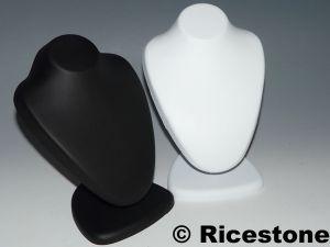 pr sentoir buste thermoform porte bijoux pour colliers ts146b ts146n. Black Bedroom Furniture Sets. Home Design Ideas