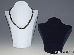 Pr sentoir de bijoux buste pour colliers buste en - Presentoir bijoux professionnel ...
