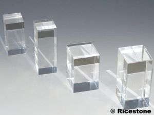 Support pr sentoir cube plaque cylindre acrylique pour for Vitrine plastique transparent