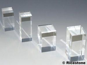 support pr sentoir cube plaque cylindre acrylique pour. Black Bedroom Furniture Sets. Home Design Ideas